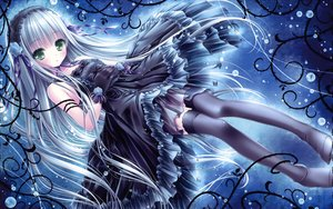 Rating: Safe Score: 217 Tags: blue_hair bubbles dress gloves gothic goth-loli green_eyes headdress lolita_fashion long_hair ribbons scan thighhighs tinkerbell tinkle User: gnarf1975