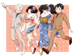 Rating: Safe Score: 14 Tags: black_eyes black_hair demon group hoozuki_no_reitetsu horns japanese_clothes karauri kimono long_hair male miki_(hoozuki) nasubi peach_maki pointed_ears short_hair socks tagme_(artist) tie twintails waifu2x white_hair yellow_eyes User: otaku_emmy