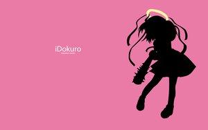 Rating: Safe Score: 6 Tags: angel bokusatsu_tenshi_dokuro-chan dokuro ipod parody pink silhouette User: ToshioArt