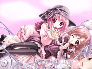 Rating: Safe Score: 22 Tags: 2girls cafe_little_wish cake dress food fruit goth-loli lily_(cafe_little_wish) loli lolita_fashion merun_(cafe_little_wish) strawberry tinkle User: Oyashiro-sama