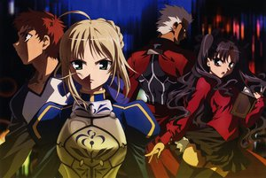 Rating: Safe Score: 7 Tags: archer emiya_shirou fate/stay_night megami saber tohsaka_rin type-moon User: Oyashiro-sama