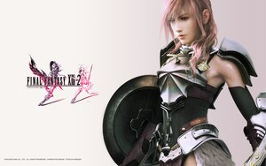 Rating: Safe Score: 117 Tags: armor blue_eyes final_fantasy final_fantasy_xiii lightning_farron long_hair pink_hair realistic watermark weapon User: izuna