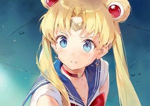 Rating: Safe Score: 69 Tags: blonde_hair blue_eyes choker close gilse headband long_hair parody sailor_moon sailor_moon_(character) school_uniform tsukino_usagi twintails waifu2x User: otaku_emmy