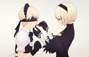 Rating: Safe Score: 40 Tags: blindfold blonde_hair cosplay gloves gradient headband headdress maid male nier nier:_automata short_hair tagme_(artist) yorha_unit_no._2_type_b yorha_unit_no._9_type_s User: otaku_emmy