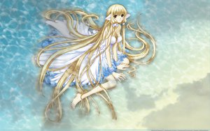 Rating: Safe Score: 45 Tags: beach blonde_hair brown_eyes chii chobits clamp dress long_hair tsubasa_reservoir_chronicle water wet User: gnarf1975