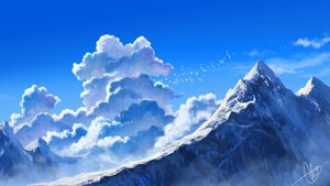 Rating: Safe Score: 35 Tags: aki_(aki_k6) clouds landscape nobody original polychromatic scenic signed sky snow User: mattiasc02