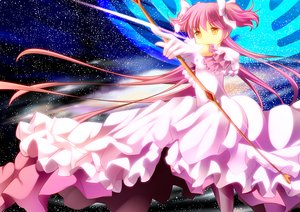 Rating: Safe Score: 39 Tags: bow bow_(weapon) dress gloves kaname_madoka long_hair mahou_shoujo_madoka_magica onaka_sukisuki pink_hair twintails ultimate_madoka weapon yellow_eyes User: RyuZU