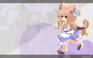 Rating: Safe Score: 12 Tags: blush brown_eyes dress fang horns ibuki_suika long_hair orange_hair ribbons touhou zoom_layer User: pantu