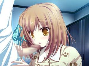 Rating: Explicit Score: 98 Tags: blonde_hair censored fellatio game_cg koyuki_amagase magus_tale pajamas penis ribbons short_hair tenmaso whirlpool yellow_eyes User: Oyashiro-sama