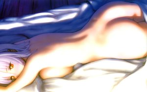 Rating: Questionable Score: 232 Tags: ass ayane bed breasts dead_or_alive ebina_souichi nude short_hair sideboob white_hair yellow_eyes User: Oyashiro-sama