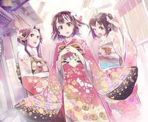 Rating: Safe Score: 122 Tags: anthropomorphism brown_eyes brown_hair japanese_clothes jintsuu_(kancolle) kantai_collection kimono naka_(kancolle) nichi_doriimu sendai_(kancolle) short_hair User: mattiasc02