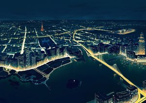 Rating: Safe Score: 46 Tags: building city landscape night nobody original scenic water yume32ki User: RyuZU