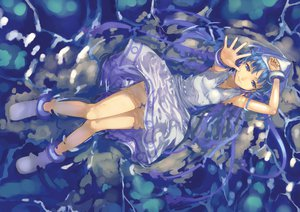 Rating: Safe Score: 106 Tags: blue_eyes blue_hair dress hat ikamusume long_hair mizore_akihiro shinryaku!_ikamusume tentacles water User: PAIIS