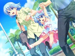 Rating: Questionable Score: 93 Tags: blue_eyes blue_hair game_cg himuro_rikka koutaro loli panties short_hair tree tropical_kiss twinkle underwear User: Wiresetc