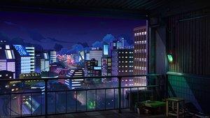 Rating: Safe Score: 46 Tags: 3d building city clouds mb0sco night nobody original scenic sky stars the_jazz_hop_cafe watermark User: RyuZU