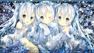 Rating: Safe Score: 125 Tags: blue_eyes hatsune_miku long_hair satou_(una-vittima) snow twintails vocaloid white_hair yuki_miku User: opai