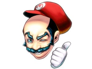 Rating: Safe Score: 31 Tags: all_male blue_eyes hat male masao short_hair super_mario white User: noitis