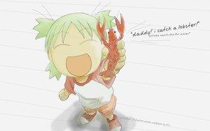 Rating: Safe Score: 20 Tags: azuma_kiyohiko food green_hair koiwai_yotsuba short_hair sketch white yotsubato! User: Kulag