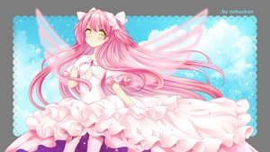 Rating: Safe Score: 15 Tags: bow dress gloves kaname_madoka long_hair mahou_shoujo_madoka_magica pink_hair tagme_(artist) thighhighs transparent ultimate_madoka watermark wings yellow_eyes User: BattlequeenYume