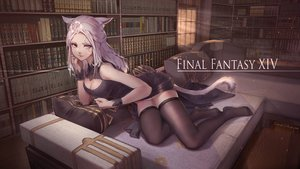 Rating: Safe Score: 77 Tags: animal_ears bicolored_eyes breasts catgirl cleavage final_fantasy final_fantasy_xiv miqo'te scar signed tagme_(artist) tail thighhighs zettai_ryouiki User: Fepple