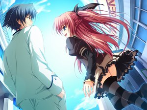 Rating: Safe Score: 40 Tags: akatsuki_no_goei game_cg nikaidoh_reika red_hair seifuku thighhighs tomose_shunsaku User: Wiresetc
