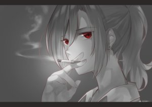 Rating: Safe Score: 37 Tags: aozaki_touko cigarette close gray kara_no_kyoukai karinto_yamada long_hair polychromatic ponytail red_eyes signed smoking User: otaku_emmy