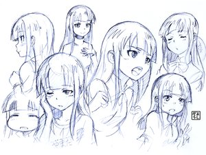 Rating: Safe Score: 40 Tags: long_hair monochrome sketch working!! yamada_aoi yoshikawa_kazunori User: PAIIS