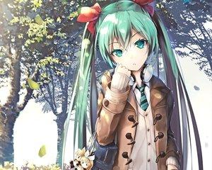 Rating: Safe Score: 192 Tags: ajigo aqua_eyes aqua_hair autumn cropped doll hatsune_miku headphones kagamine_len kagamine_rin leaves long_hair tie tree twintails vocaloid waifu2x User: mattiasc02