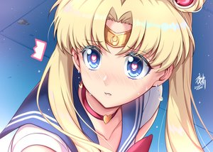 Rating: Safe Score: 39 Tags: aqua_eyes blonde_hair blush choker close headband long_hair parody sailor_moon sailor_moon_(character) school_uniform signed tsukino_usagi twintails waifu2x yoru_sei User: otaku_emmy