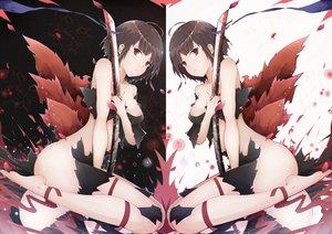 Rating: Questionable Score: 153 Tags: blood hd-hlh_(handanhlh1) katana koutetsujou_no_kabaneri mumei_(kabaneri) ribbons sword torn_clothes weapon User: FormX