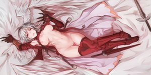 Rating: Explicit Score: 180 Tags: armor breasts cape final_fantasy final_fantasy_tactics jpeg_artifacts nipples pussy red_eyes solidstatesurvivor sword ultima_(fft) uncensored weapon white_hair wings User: BattlequeenYume