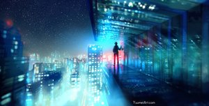 Rating: Safe Score: 360 Tags: all_male building city fisheye_placebo frey_(fisheye_placebo) male night reflection scenic sky stars watermark wenqing_yan_(yuumei_art) User: SciFi