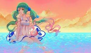 Rating: Safe Score: 42 Tags: dress hatsune_miku kogomel long_hair sky summer_dress twintails vocaloid water User: luckyluna