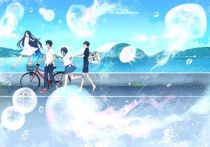 Rating: Safe Score: 38 Tags: bicycle group male original takenashi_eri User: FormX