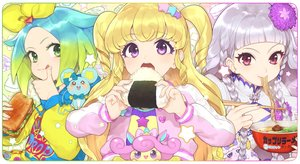 Rating: Safe Score: 23 Tags: aikatsu! animal blonde_hair braids chinese_clothes chinese_dress dress food gray_hair green_eyes green_hair hitoto hoodie long_hair mouse necklace purple_eyes red_eyes short_hair tagme_(character) twintails User: otaku_emmy
