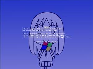 Rating: Safe Score: 18 Tags: azumanga_daioh blue kasuga_ayumu parody windows User: Oyashiro-sama