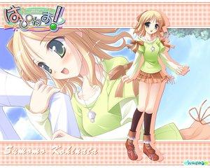 Rating: Safe Score: 20 Tags: blonde_hair green_eyes happiness kneehighs kohinata_sumomo necklace ribbons skirt User: Oyashiro-sama