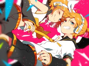 Rating: Safe Score: 20 Tags: headphones kagamine_len kagamine_rin makoji_(yomogi) polychromatic vocaloid User: FormX