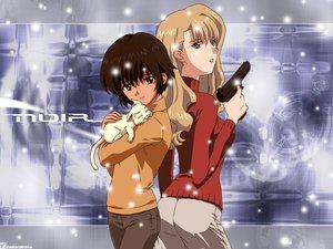 Rating: Safe Score: 9 Tags: animal blonde_hair brown_eyes brown_hair cat gun mireille_bouquet noir weapon yuumura_kirika User: Oyashiro-sama
