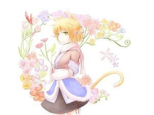 Rating: Safe Score: 42 Tags: animal_ears blonde_hair blush catgirl flowers green_eyes kokotetsu mizuhashi_parsee pointed_ears scarf short_hair tail touhou User: PAIIS