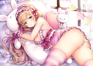 Rating: Questionable Score: 146 Tags: ass bed brown_hair bunny headdress lolita_fashion long_hair mitsuba_choco pajamas panties scan underwear yellow_eyes User: BattlequeenYume