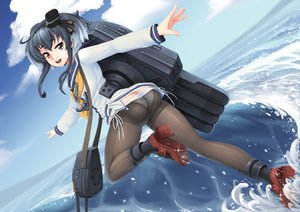 Rating: Questionable Score: 32 Tags: anthropomorphism ass barbariank chain clouds gray_hair kantai_collection panties pantyhose purple_eyes ribbons school_uniform short_hair sky tokitsukaze_(kancolle) underwear water User: BattlequeenYume
