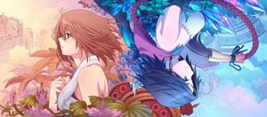 Rating: Safe Score: 244 Tags: blue_eyes blue_hair brown_hair diamond_dust final_fantasy final_fantasy_x final_fantasy_x-2 flowers short_hair yuna_(ffx) User: mattiasc02