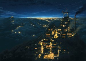Rating: Safe Score: 108 Tags: building city forest industrial landscape night original pochi_(poti1990) scenic signed sky stars tree User: otaku_emmy