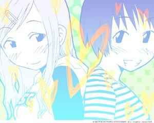 Rating: Safe Score: 0 Tags: 2girls close concerto fukagawa_ino hattori_mitsuru monochrome oosawa_hitomi watermark User: Oyashiro-sama