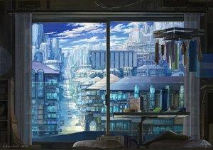 Rating: Safe Score: 44 Tags: blue building city k_kanehira nobody original scenic watermark User: FormX