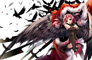 Rating: Safe Score: 129 Tags: animal bird pink_hair pixiv_fantasia tagme thighhighs tsukii wings User: opai