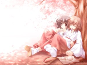 Rating: Safe Score: 24 Tags: cherry_blossoms flowers japanese_clothes miko spring User: Oyashiro-sama