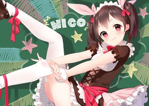 Rating: Safe Score: 118 Tags: furururu headdress kneehighs love_live!_school_idol_project ribbons twintails yazawa_nico User: Flandre93