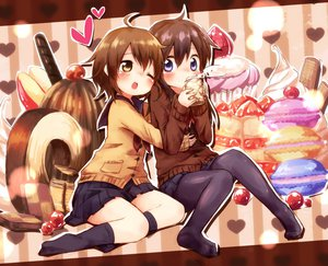 Rating: Safe Score: 73 Tags: 2girls ayakashi_(monkeypanch) food hug original pantyhose socks wink User: FormX